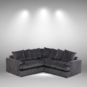 Nevada Black Corner Sofa