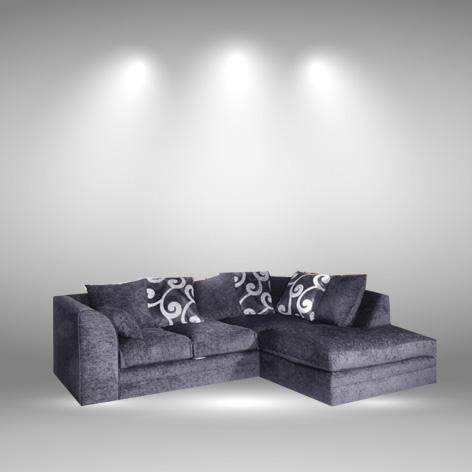 Toledo Grey Right Hand Corner Sofa